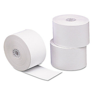 """PM Company Single Ply Thermal Cash Register/POS Rolls 1 3/4"""" x 230 ft. White 10"""