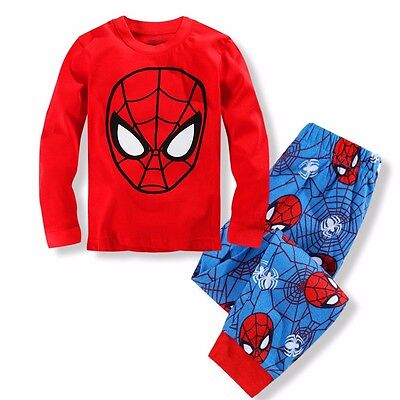 Spiderman Kids Toddler Baby Boys Pajamas Set Pjs Sleepwear Size 2T 3T 4T 5T 6 7