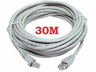30M Meters Ethernet Cable Rj45 Network Fast Internet Lead Premium Speed Cat5E
