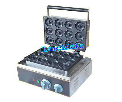 Commercial Electric Mini Round Donut Machine 12 Grids Donut Maker FYX-12A 220V H