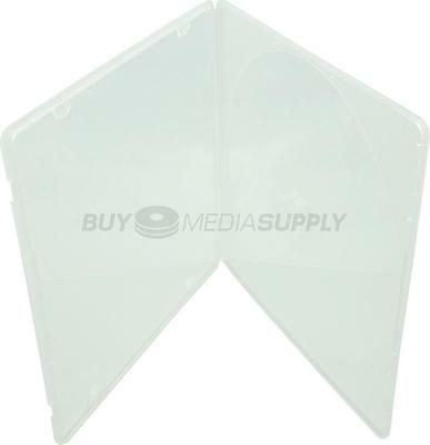 5mm Slimline Clear 1 Disc CD/DVD PP Poly Case / Outer Plastic Wrap - 4 Piece