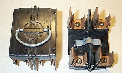 cutler hammer range main 60 amp fuse pull out holder • 35 00 american 60 amp main switch fuse panel pull out fuse holder vintage