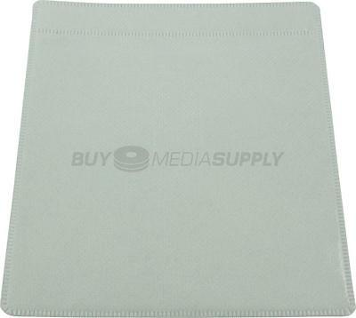 Non woven White Plastic Sleeve CD/DVD Double-sided - 100 Pack
