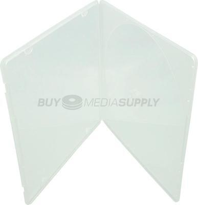5mm Slimline Clear 1 Disc CD/DVD PP Poly Case / Outer Plastic Wrap - 80 Pack