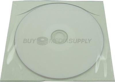 Tamper Evident Clear Plastic Sleeve CD/DVD / Adhesive Back - 210 Pack