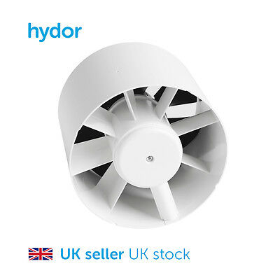 Hydor Residential 100mm In-Line Extract Fan with Timer HQIN