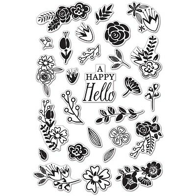 Hero Arts Clear Stamps, 10cm x 15cm Sheet, Flower Garden. Delivery is Free