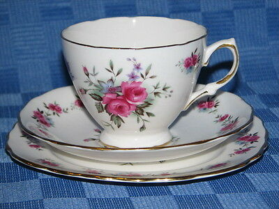 Queen Anne Bone China Tea Cup Trio