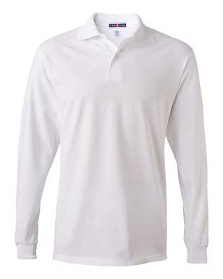 Jerzees Men's Long Sleeve Polo Jersey Poly/Cotton Shirt with SpotShield 437ML