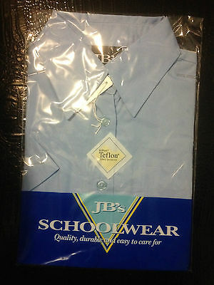 JB's SCHOOL WEAR BOYS FLAT COLLAR SHIRT -  LIGHT BLUE  SIZE 8  BNIP