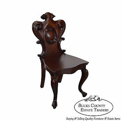 Antique 19th Century Carved Walnut Renaissance Side Chair