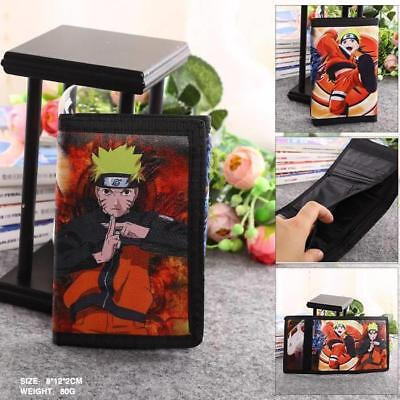 Anime Naruto Short Leather Wallet Coin Purse Card Holder Bag #2