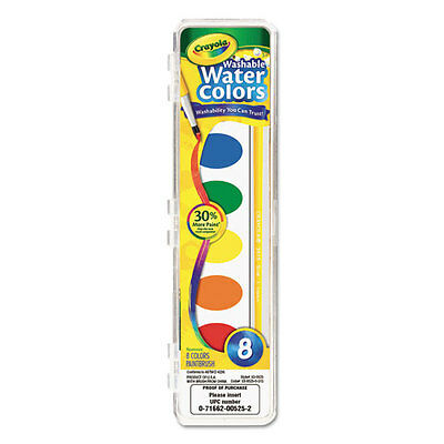 3 Pack-Crayola Washable Watercolor Paint 8 Assorted Colors