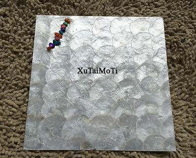 11pcs White capiz shell mosaic mother of pearl tiles kitchen shower wall tile