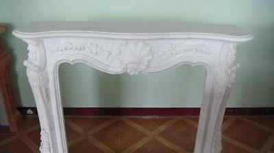 Marble Fireplace Mantel with Classic Floral Carvings