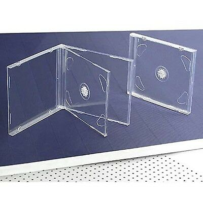 10 STANDARD Clear Double CD Jewel Case NEW Free Shipping