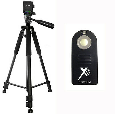 "XIT 60"" Tripod + Wireless Remote for Nikon D7100 D5300 D5200 D5100 D3300 D3200"