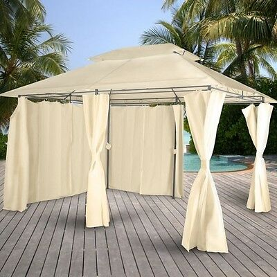 Waterproof Marquee Curtained Gazebo Tent Outdoor Garden Canopy Wedding Party