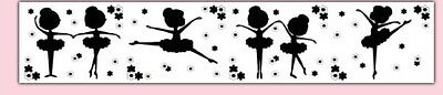 Grey Ballerina Silhouette Wallpaper (7pieces) from etsy