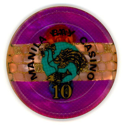 10 Peso CIRCA 1980's  MANILA BAY CASINO CHIP.