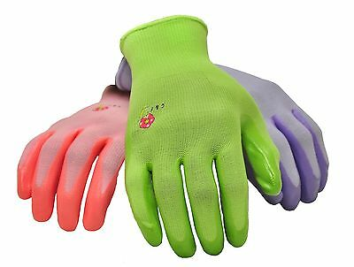 G & F 15226 Women's Garden Gloves, 6 Pair Pack, assorted colors