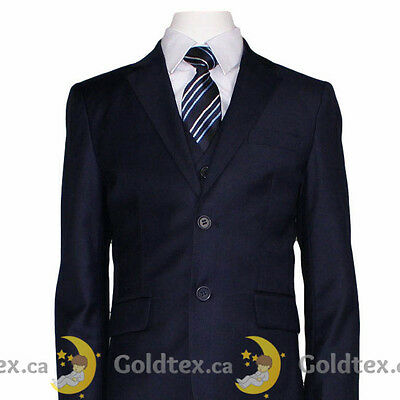 5 Piece Navy Formal Suit - (2 - 16) Boys, Wedding, Confirmation, Communion