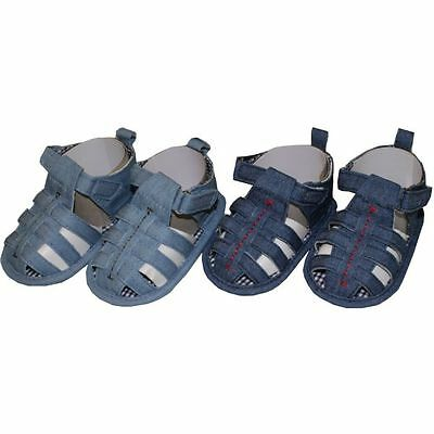 Baby Boy Pre-Walker closed toe sandal by CHEEKY MONKEY Denim blues