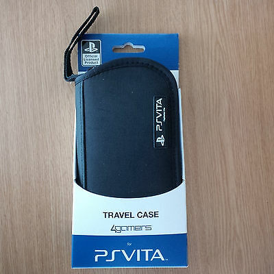 A4T 4gamers Travel Case for Sony PS Vita Official Licensed Product Black