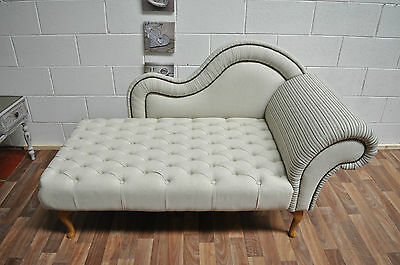 Brand New  Beautiful Chaise Lounge in Chesterfield style with decorative nails