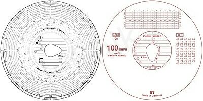 2 x Box of 100 Tacho discs for trucks wagons lorrys - Tachograph charts cards