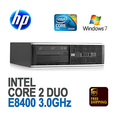 HP 8000 SFF Desktop Computer PC (Core 2 Duo 3.0GHz 8GB Windows 7 Pro WiFi)