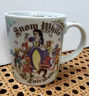 Unique Snow White Coffee Mug Paul Cardew Design England w/ Text Inside Cup