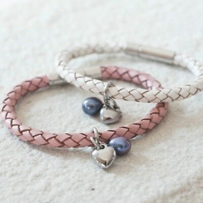 Leather Heart Wristband, Girls Wristband