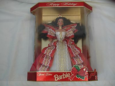 NIB Happy Holidays Barbie Special Edition Red Ribbons and Bows