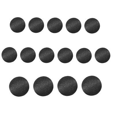 Swordfish 8054 - Tuxedo Suit Buttons Black Smooth Satin Covered 15 Piece Set