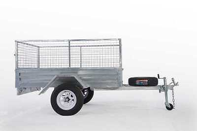 Lowest Price Ever !! 8*5 Galvanized Box Cage Trailer $1499!!!!!