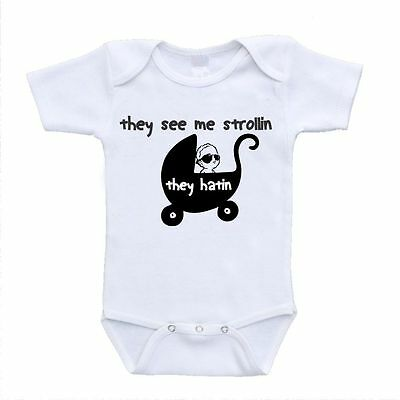 they see me strollin onesie onsies baby infant toddler funny hilarious boydsuits
