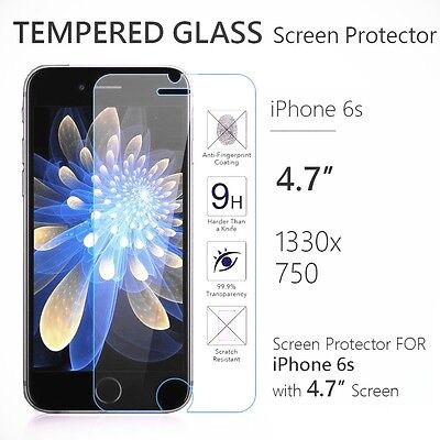 "Apple iPhone 6s 4.7"" 9H Premium Real Tempered Glass Film Screen Protector Lot"