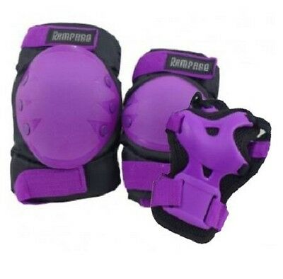 Roller Skate Skating Scooter Cycling KNEE ELBOW PALM Protective Gear Pad  Purple