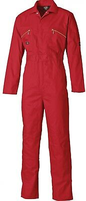 Dickies Mens Redhawk Work Coverall Overalls Boiler Suit PPE Zip Front - WD4839