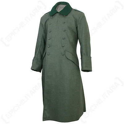 WW2 German M36 Wool Great Coat - Repro Trench Over Heer Army Field Grey New