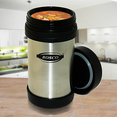 500ml Stainless Steel Insulated Thermal Hot & Cold Food Drinks Travel Flask Mug