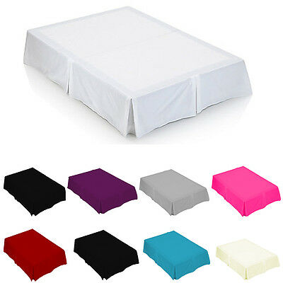Luxury Plain Dyed Poly Cotton Base Plated Valance Sheet Bed Sheet - Soft Fabric