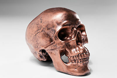 Kare Spardose Skull Copper Antique Totenkopf Kupfer