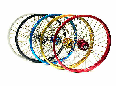 "Front & Rear Araya Type 7X Wheel Set 20"" Various Colours By Old School BMX"