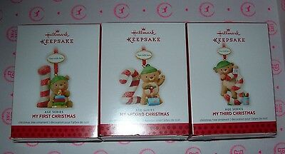 Hallmark  2013 Christmas Ornaments Age Series Multiple Ages New In Box