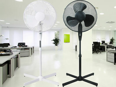 """16"""" Pedestal Oscillating Stand Standing Cooling Fan Home Cool Air Tower Bl/white"""