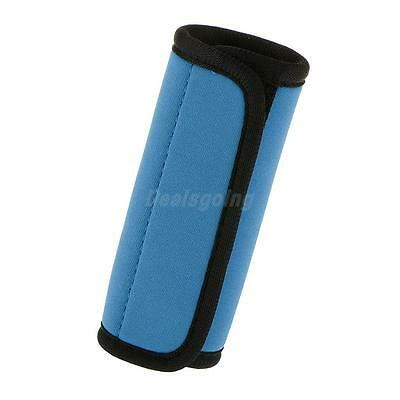 Luggage Suitcase Handle Comfort Wraps/Cover Identifier Tags-Blue