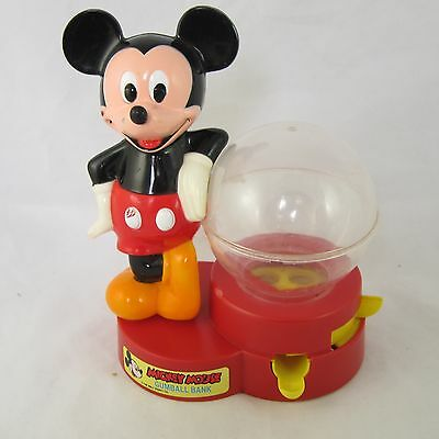 Vintage Mickey Mouse Plastic Gumball Machine 1986 by Superior Toy Co