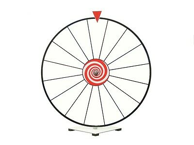 "Prize Wheel 24"" Dry Erase White Face Kid Safe Pegless Design"